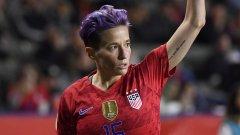 Звездата на САЩ Меган Рапиноу беше сред най-гръмките гласове в кампанията на футболистките за по-високо заплащане