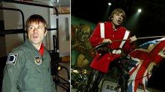 1. Има ли пилот в самолета? Има - Брус Дикинсън (Iron Maiden)  Вокалистът на Iron Maiden Брус Дикинсън работи като пилот на търговски и пътнически самолети. Интересът му към летенето е още от детските му години. През 90-те той се научава да пилотира, а впоследствие получава разрешителни за управление на все по-големи и по-големи самолети. Една от идеите му е самолетът Ed Force One. Става дума за Боинг 757, който върху себе си има нарисуван талисмана на групата - Ед, и с който Maiden пътуват от концерт на концерт по време на няколко от световните си турнета. В пилотската кабина, разбира се, е самият Дикинсън.