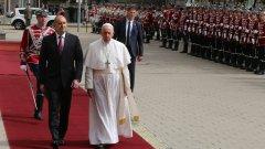 Първо посещение на главата на Католическата църква в България