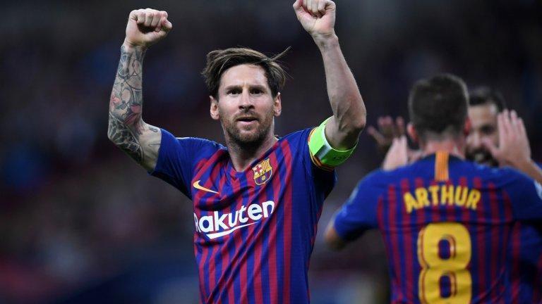 Меси отново беше могъщ, а Барселона напомни за класата си и не остави шанс на Тотнъм