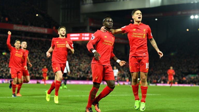Двата гола на Мане в 16-ата и 18-ата минута бяха достатъчни, за да решат мача. Важното е и че Ливърпул отново изглеждаше застрашително