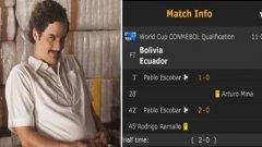 Ел Патрон с два гола за Боливия при равенството 2:2 с Еквадор