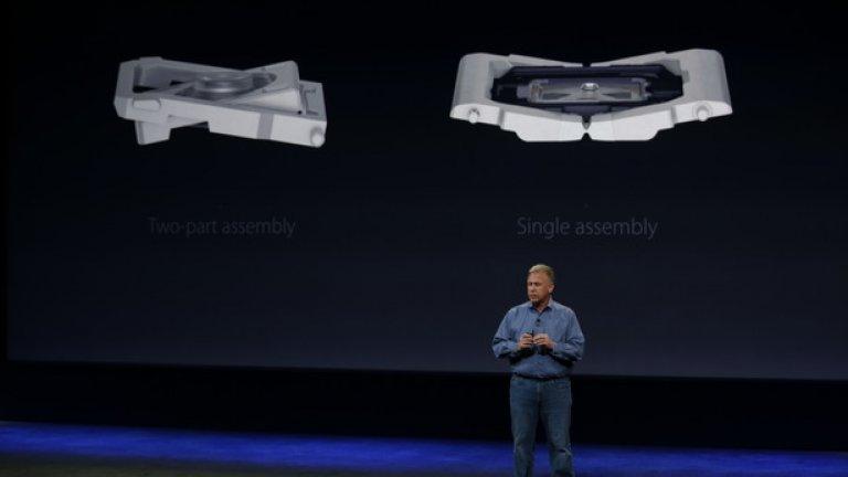 За да го постигнат, Apple са използвали нов механизъм, наподобяващ пеперуда, за бутоните. Можете да го видите от ляво