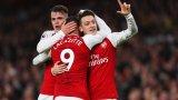 Днес атакуващите играчи на Арсенал показаха добри неща след почивката и изковаха убедителна победа
