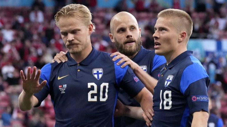 Йоел Поянпало не се израдва на гола си от уважение към феновете на Дания след случилото се с Кристиан Ериксен