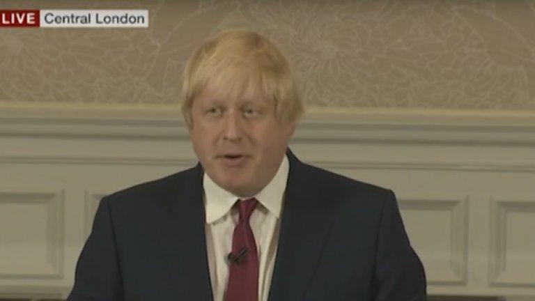 Бившият кмет на Лондон и основно водещо лице на кампанията за излизане от ЕС по време на британския референдум заяви, че не смята, че е подходящ за поста министър-председател в следващото правителство на Торите