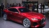 """BMW Concept 4   Тази кола привлича огромно внимание, най-малкото заради агресивния си дизайн и масивна решетка отпред. Производителят иска това да е """"Новото лице на Серия 4 на BMW"""", което означава, че оттук нататък моделите вероятно ще запазят бъбрековидната решетка и пропорциите си.   Думата """"Concept"""" в името на автомобила не трябва да ви бърка – той не е изцяло концептуален и има възможност да стигне и до серийно производство. В същото време фенове на марката се надпреварват да предлагат различни дизайни на предната част на колата, която явно не допада на всички."""