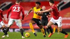 Инфарктна победа за Юнайтед, който вече е на 2 т. от Ливърпул