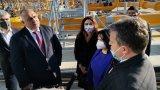 Премиерът инспектира компресорната станция при Петрич, през която България ще получава газ от Азербайджан.