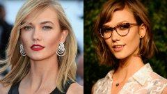 Моделът Карли Клосс успява да се преобрази само с едни с очила