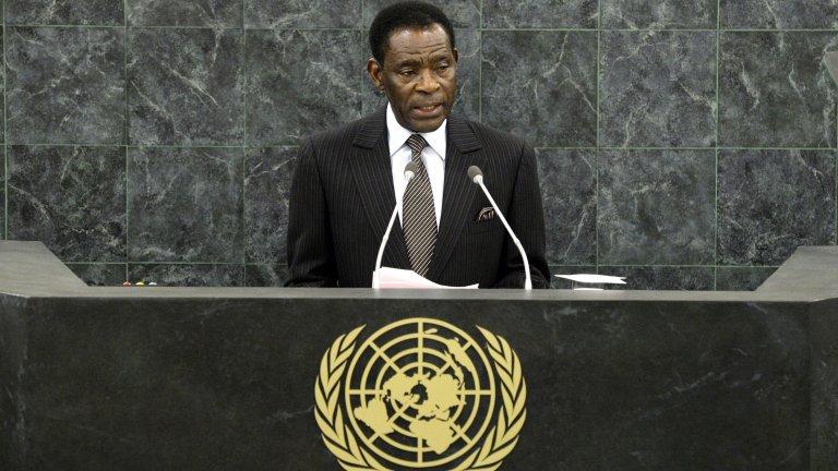 Теодоро Обианг Нгуема Мбасого (Екваториална Гвинея) На власт от 3 август 1979 г.  Мбасого се възкачва на власт по класически за Африка модел - чрез преврат срещу своя чичо. От тогава насам не е изпускал управлението, а в момента подготвя за наследник сина си Теодоро (Теодорин) Обианг Манге, който служи като вицепрезидент. И двамата притежават луксозни имоти в чужбина, а специално Теодорин е известен с интереса си към шикозни партита. В същото време две трети от населението на страната живее под прага на бедността с едно от най-ниските нива на средна продължителност на живота в света.