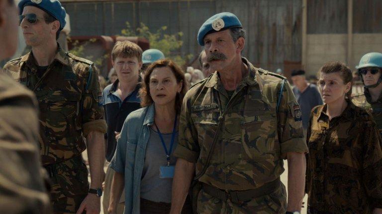 """""""Quo vadis, Аида""""  Филмът разказва историята на Аида (Ясна Джуричич), преводач в Силите за опазване на мира към ООН, която се намира в босненския град Сребреница малко преди пристигането на сръбската армия и превземането на града. Аида и семейството ѝ търсят убежище в лагера на ООН, а като участник в мирните преговори тя има достъп до важна информация, която я поставя пред избора - спасение за близките ѝ или за народа ѝ."""