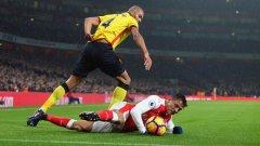 Арсенал не успя да навакса пасива от първото полувреме.