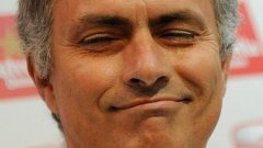 """Щастливият Жозе. """"Преди 9 години дойдох тук и казах, че съм Специалния. Защото правех специални неща във футбола. Днес се връщам на мястото, което обичам - в Челси, значи съм Щастливия."""" При завръщането в Челси през 2013-а."""