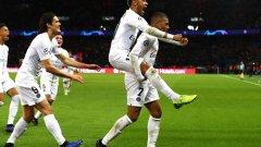 Голямото трио в нападението на ПСЖ изработи втория гол, който се оказа и победен