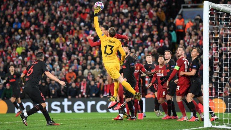 Ян Облак беше героят на мача и спасяванията му попречиха на Ливърпул да спечели още в редовното време