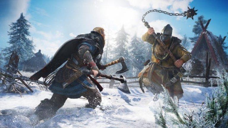Assassin's Creed Valhalla  Последните няколко години фокусът на цялата поредица се измести от стелт жанра към чистия RPG аспект от играта. Това обаче не означава, че тя е станала по-малко красива или дава по-малко възможности за свободна игра - даже напротив, Assassin's Creed Valhalla е по-мащабна и по-богата от всяко едно от предишните заглавия, като дава огромен избор от възможности от неща за правене. Спорният момент тук е друг - дали не е още по-разпиляна дори от предшественика си Odissey, т.е. твърде мащабна?