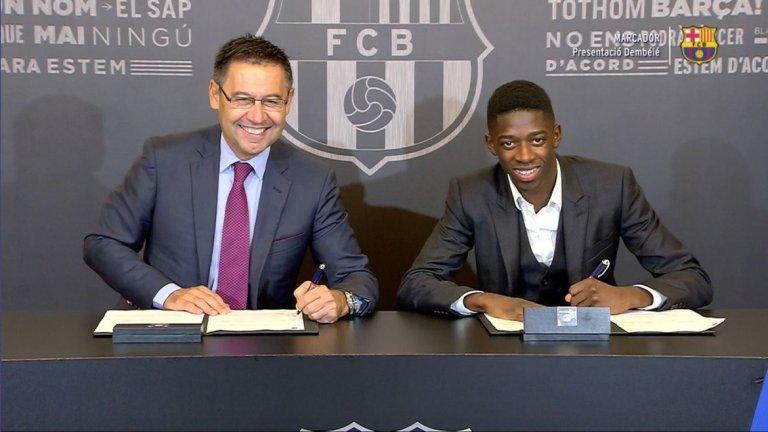 Барселона трябваше да се изръси сериозно, за да вземе талантливия Дембеле за заместник на Неймар