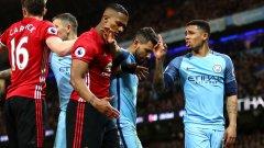 В мача преобладаваха единоборствата, инцидентите и скандалите. Ето пет извода от нулевото равенство между Юнайтед и Сити