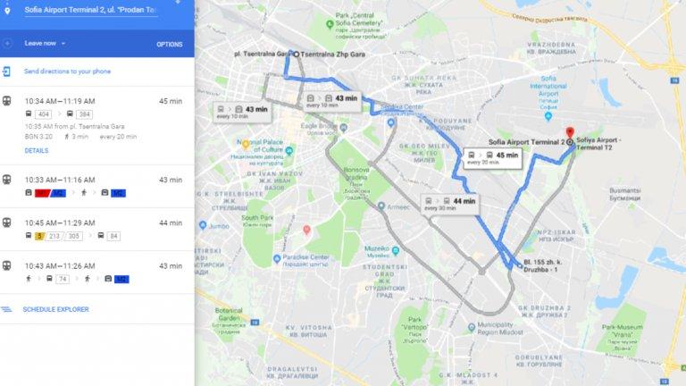Google Maps Integrira Gradskiya Transport V Sofiya Webcafe Bg