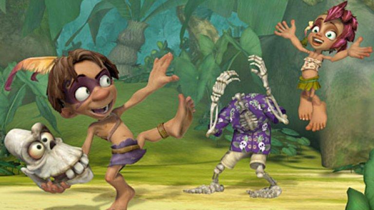 Tak and the Power of Juju  Tak and the Power of Juju е високобюджетна продукция на популярния детски канал Nickelodeon в периода 2007 - 2009 г. Това е първият изцяло анимиран сериал на Nickelodeon, създаден от собственото студио на компанията. За него са привлечени големи имена като Хал Спаркс (познат ни от култовия американски сериал Queer as Folk), Джо ДиМаджио (озвучавал Futuramа и дал гласа си на емблематичния главен герой Маркъс Финикс от Gears of War), Патрик Уорбъртън (Family Guy, Seinfeld), Лойд Шер (Cars, Diablo III) и др.    Сериалът се счита за част от официалния канон на Tak заедно с четирите оригинални игри. Популярна от златните години на триизмерните платформъри по време на PlayStation 2 епохата, сега серията видеоигри е практически изоставена, но ако си падате по симпатични антропоморфни герои, пъзели и платформинг, със сигурност игрите ще ви допаднат.