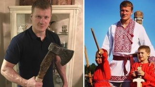 Александър Поветкин - руският десантчик и езичник с брадвата на Перун
