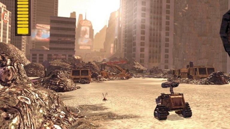 Wall-E 2008  Във филма: Земята е препълнена с боклуци, а хората са избягали от нея на огромен ваканционен космически кораб. Те не стават от своите реещи се столове и са пристрастени към дисплеите си, чрез които си общуват в социални мрежи.  В реалността: Голяма част от технологиите във филма изглеждат твърде правдоподобни. А реещият се стол вече си има прототип и несъмнено ще се превърне в реалност в някакъв момент. А самият робот Уол-И беше сглобен от ентусиасти по изключително сполучлив начин.