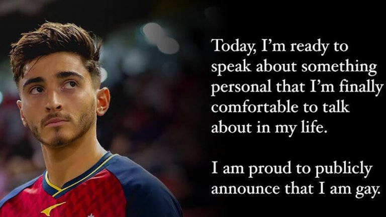 Подкрепа от Барса към футболиста, който разкри, че е гей