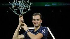 Медведев спечели Мастърса в Париж и измести Федерер