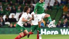 България като цяло игра равностойно на ирландците, но рухна в края