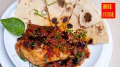 Пилешко с домати и патладжан на фурна