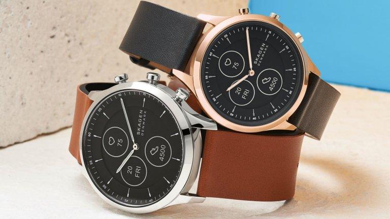 Skagen Jorn Hybrid HRSkagen е бранд, който е собственост на легенда в създаването на часовници – компанията Fossil. Hybrid в името на този часовник подсказва, че той комбинира вида на класически унисекс аксесоар със съвременни смарт функции. Дисплеят идва със специална технология за е-мастило, която да имитира вида на аналогов часовник. Не очаквайте обаче от устройството да изземе функциите на смартфона ви и да започне да ви съветва как да дишате и какво да ядете например.