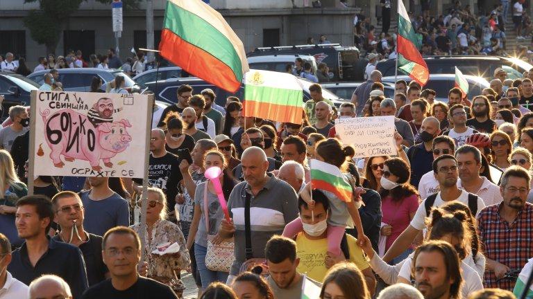 Исканията на протестиращите остават същите - оставка на премиера Бойко Борисов и главния прокурор Иван Гешев