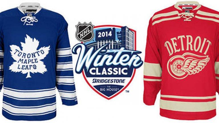 Пуловерите на тимовете бяха с дизайна на екипите от 30-те години на миналия век.