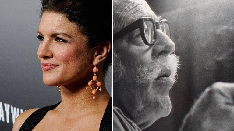 Едно по-различно мнение за ситуацията с актрисата Джина Карано (вляво) сравнява случващото се в днешен Холивуд с остракирането на комунисти през 50-те (на снимката вдясно: сценаристът Долтън Тръмбо).