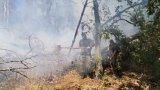 От селото обаче не могат да подадат вода за гасенето на огъня, тъй като са поставени на воден режим