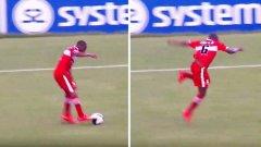 Коментатор полудя след най-смешното падане във футбола (видео)