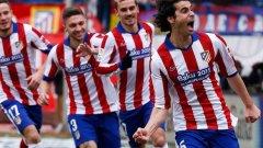 Тиаго след гола, с който откри резултата за Атлетико срещу Реал