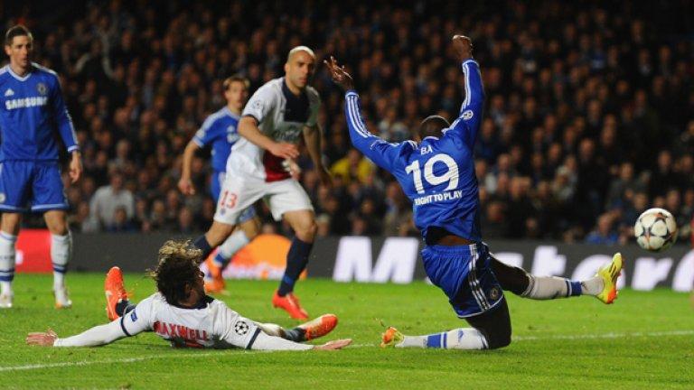 """Демба Ба се плъзна зад гърба на Максуел за победния гол, хвърлил в еуфория """"Стамфорд Бридж"""" и Моуриньо."""