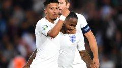 Джейдън Санчо вкара първите си два гола за Англия