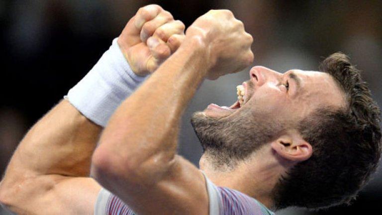 Последната точка! Григор е шампион, най-накрая! На 22 години момчето от Хасково е първият българин с титла от турнир в мъжкия професионален тенис.