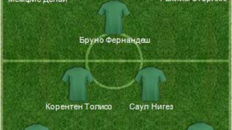 Ето и как изглежда отборът в схема 4-2-3-1