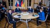 Владимир Путин и Володимир Зеленски се видяха в рамките на среща на Нормандската четворка в Париж по-рано този месец