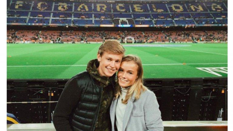 """Преди 4 г. двойката посети мач на """"Камп Ноу""""..."""
