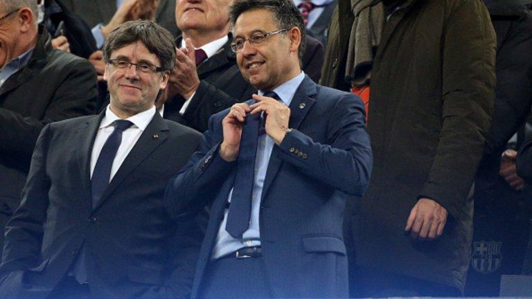 Джосеп Мария Бартомеу  Президентът запазва доверието си във Валверде, въпреки двата поредни големи провала в Шампионската лига под ръководството на наставника. Бартомеу е отговорен и за трансферната политика, която остава доста противоречива - Барса хвърля огромни пари за трансфери през последните години, но остават сериозните дефицити на определени постове, а зависимостта от Меси не намалява и тимът представлява грозна картинка без него.