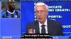 Анализатор Лучано Пасирани бе уволнен заради коментарите си по адрес на Ромелу Лукаку