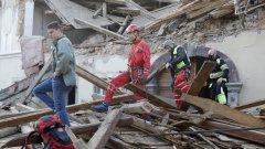 По-голямата част от сградите в град Петриня са неизползваеми