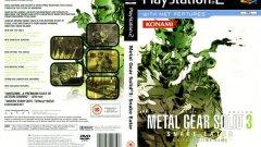 Metal Gear Solid 3: Snake Eater (PS2)  Да избереш между двата варианта на тази обложка е невъзможно, защото всеки от тях си поставя различна цел и я постига блестящо. Европейската версия е минималистична, но ефективна, премахвайки всичко излишно  и оставяйки само главния герой в контрастни цветове.