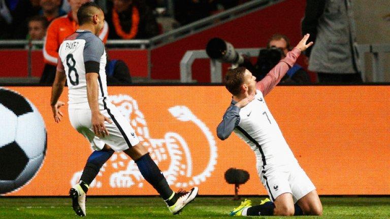 Антоан Гризман има осем гола на клубно и национално ниво в последните си девет мача.