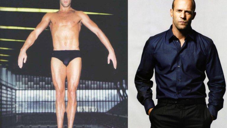 Мускули и кино е най-печелившата комбинация. Вижте кои от известните актьори са започнали кариерите си (или дължат кариерите си) на спорта.  На снимката: Джейсън Стейтъм като професионален плувец, преди да стане актьор